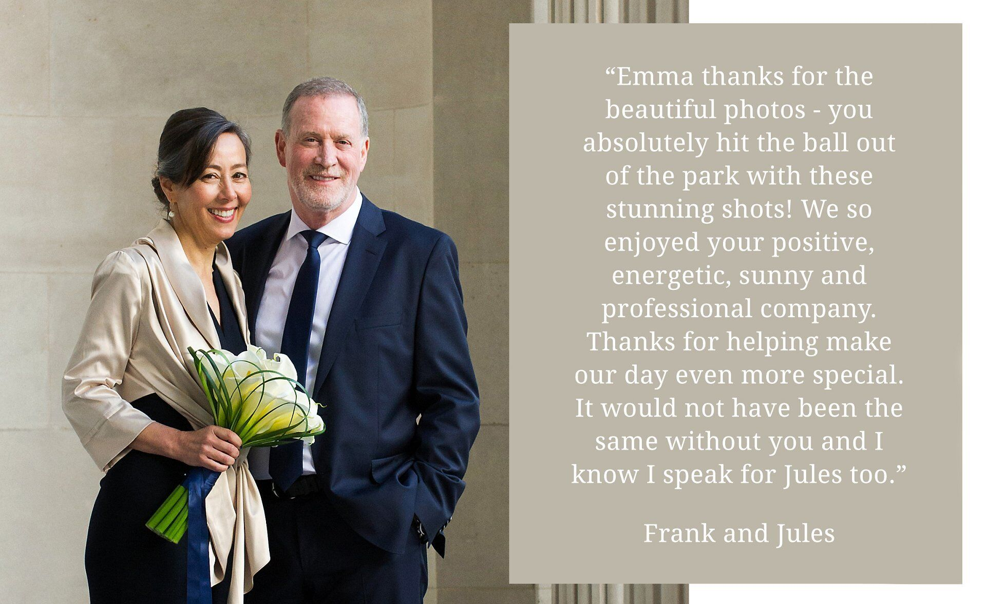 client testimonial - soho room wedding photography at westminster register office by recommended supplier, photographer emma duggan (at old marylebone town hall wedding photographer)