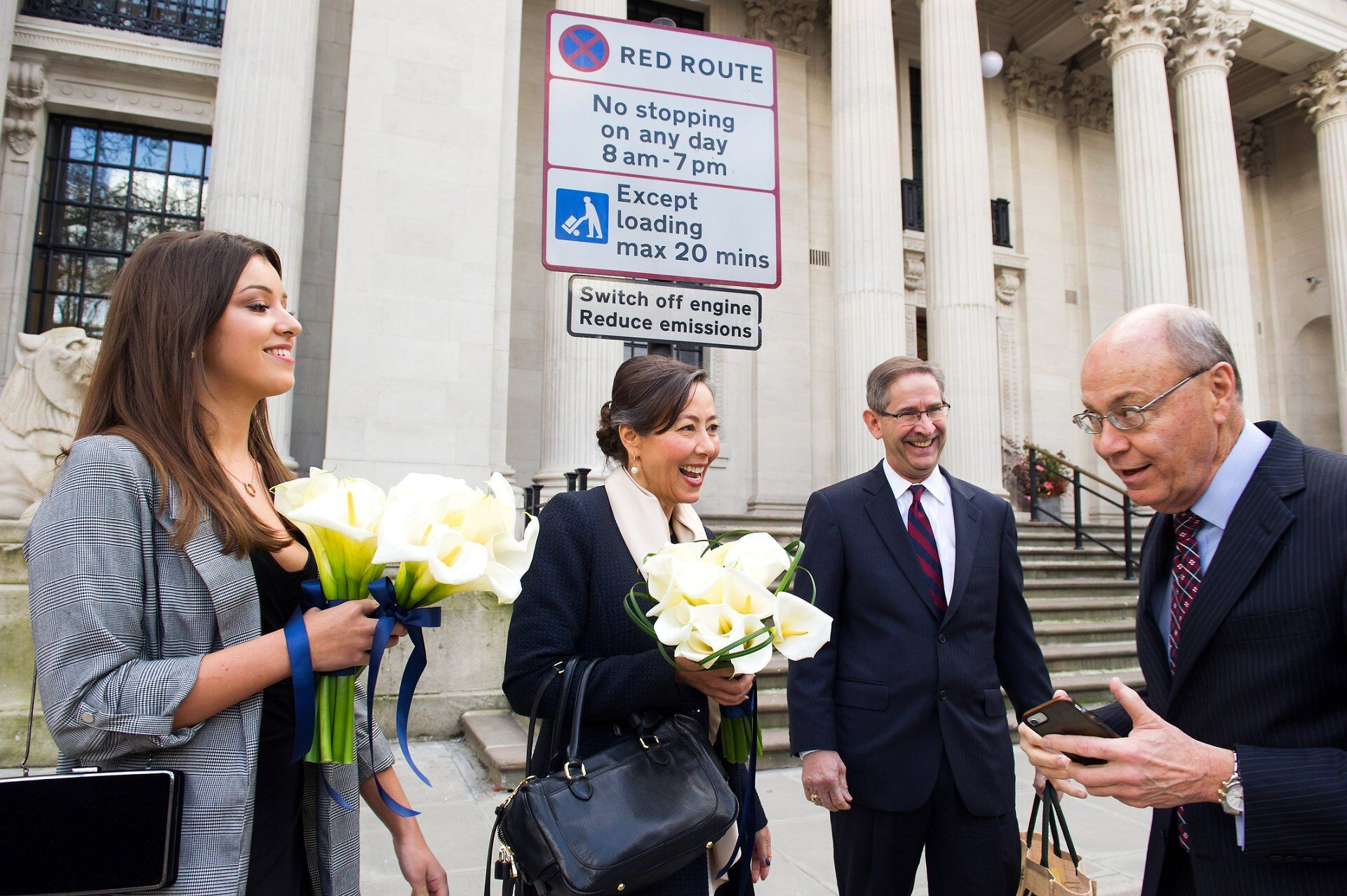 parking at old marylebone town hall on your wedding day is fine up to 20 minutes