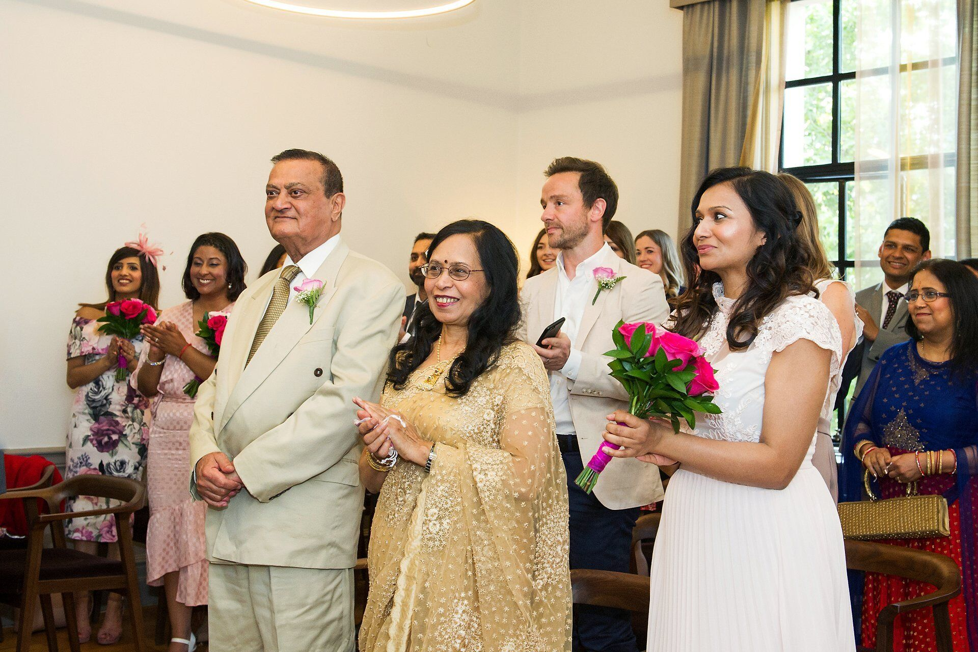 small london wedding venue at iconic westminster council house old marylebone town hall