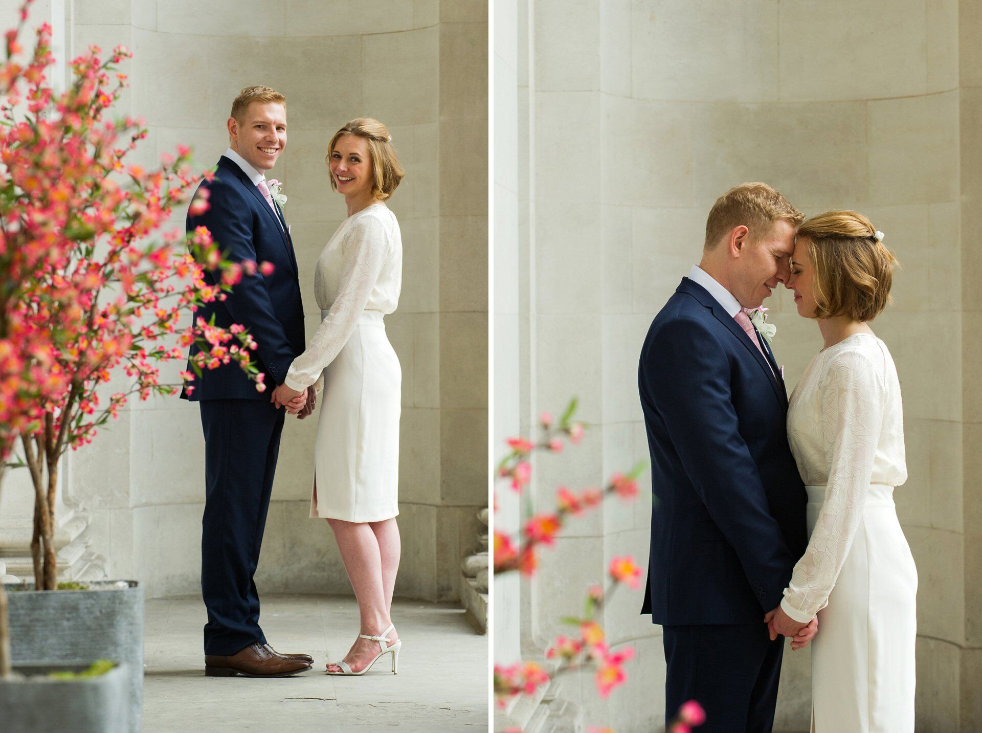 characterful bride and groom wedding portraits by old marylebone town hall specialist emma duggan