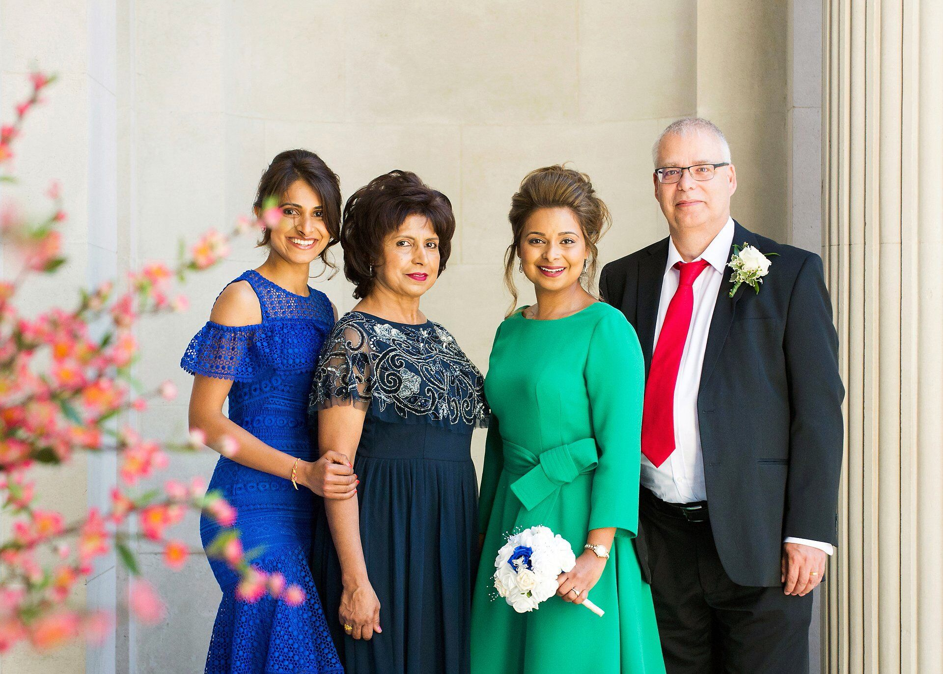 family group photograph dubai wedding photography for international clients from all over the world marrying in london