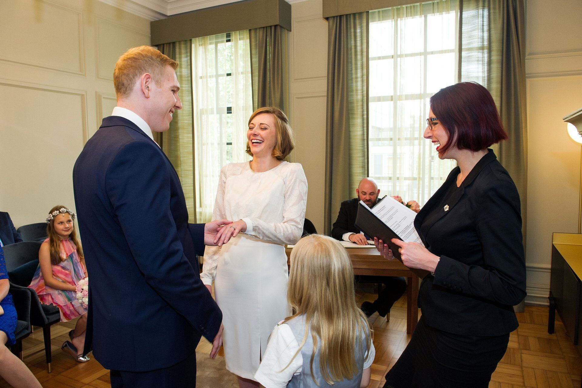 lots of laughter during this old marylebone town hall wedding by register office specialist photographer