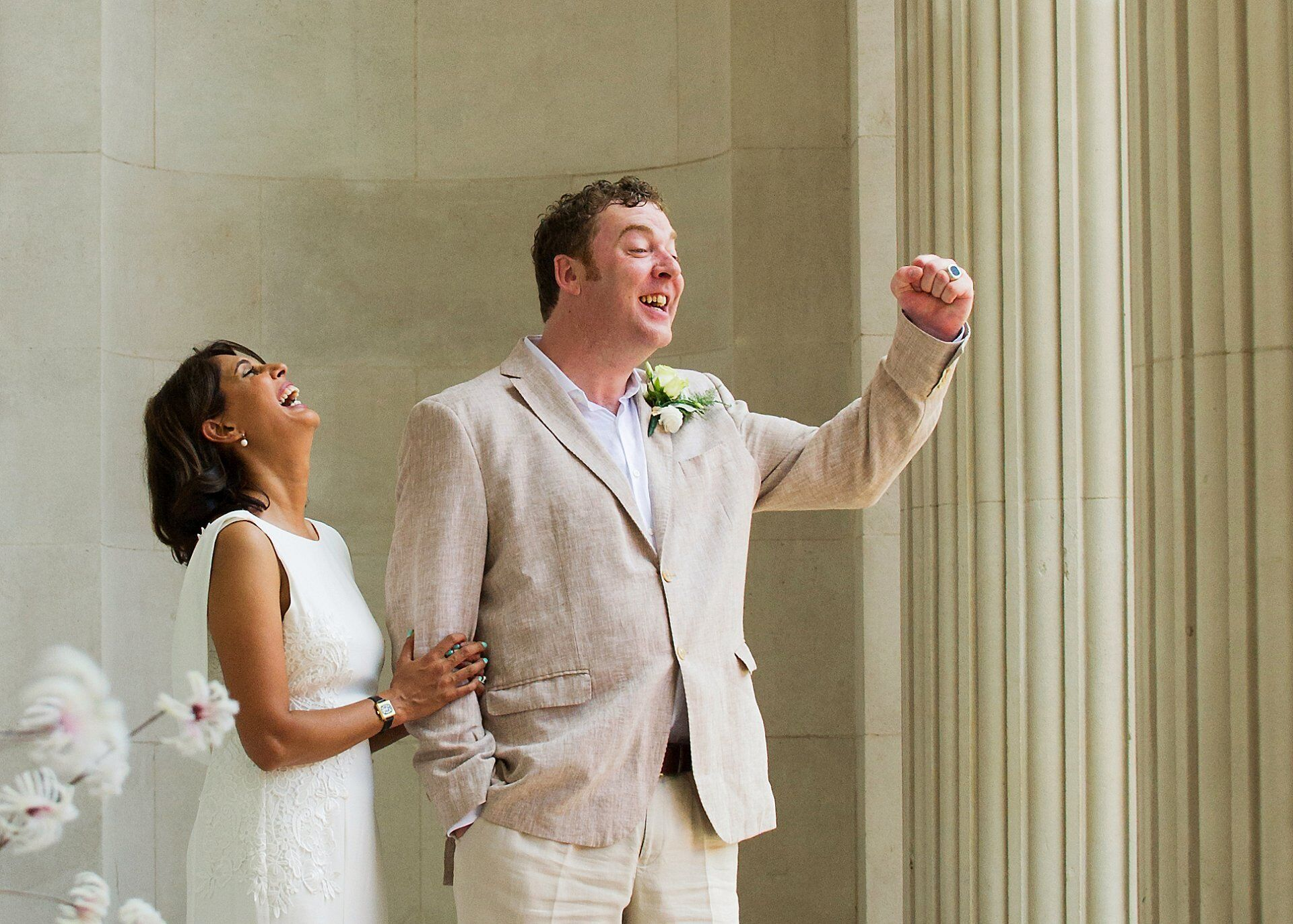 world cup quarter final wedding and groom celebrating as england score their first goal