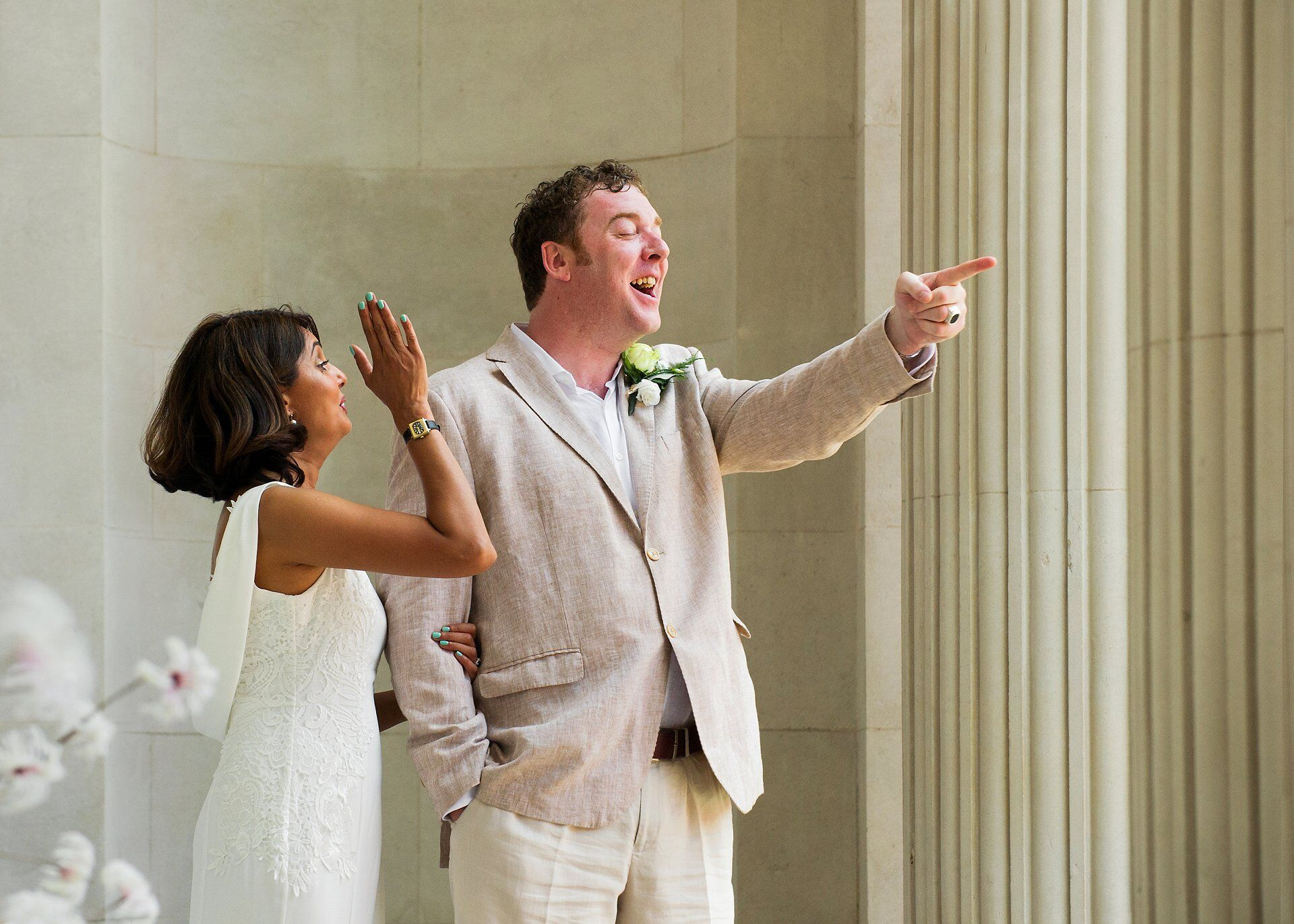 world cup quarter final wedding - england score their first goal during wedding photographs at old marylebone town hall courtesy of harry maguire