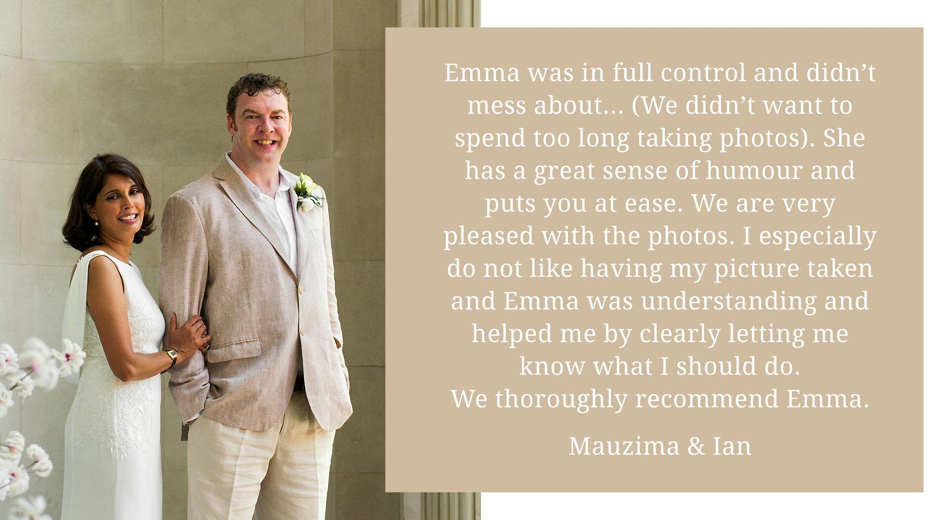 world cup quarter final wedding photographer at old marylebone town hall - client testimonial for emma duggan photography (soho room wedding photography)
