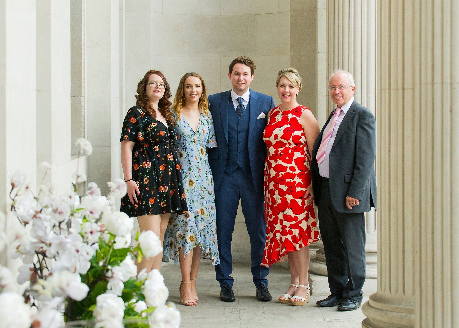 groom and his family at old marylebone town hall