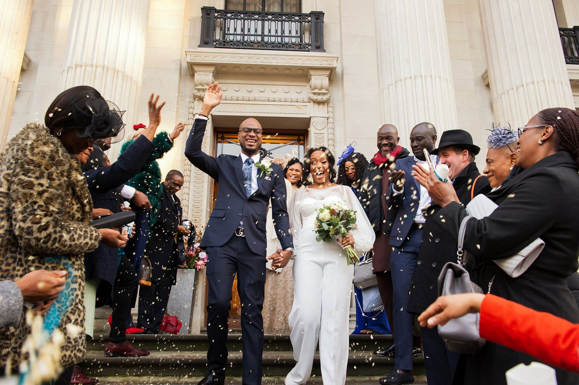 confetti shot - a day to remember westminster win your wedding at old marylebone town hall competition wedding photography at westminster register office