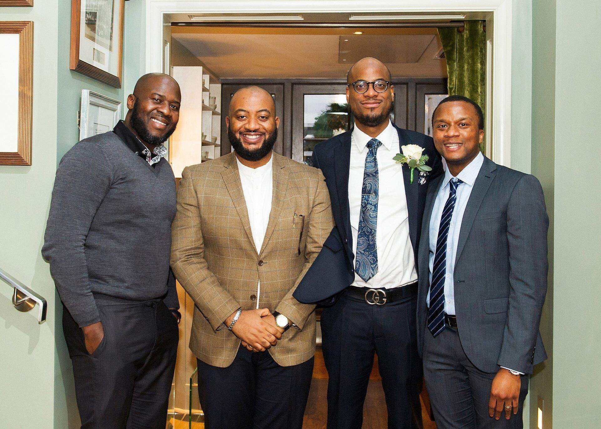 groom and his friends at dorset square hotel