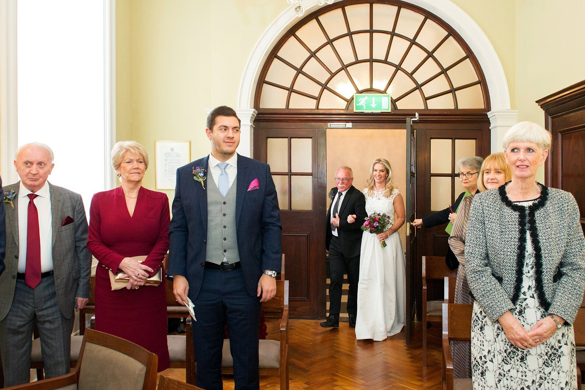 bride and her father enter the newly refurbished rossetti room which reopened in spring 2019