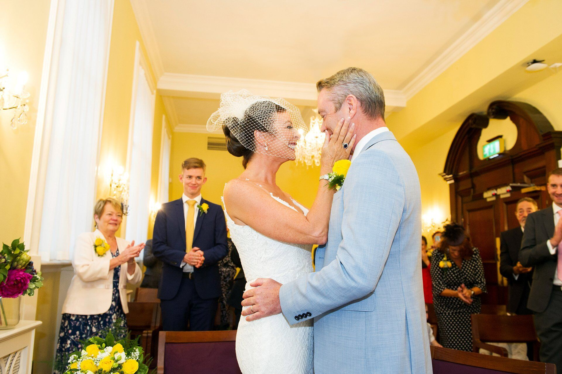 Ivy Chelsea Garden wedding photographer Emma Duggan just married in the Brydon Room, Chelsea Old Town Hall