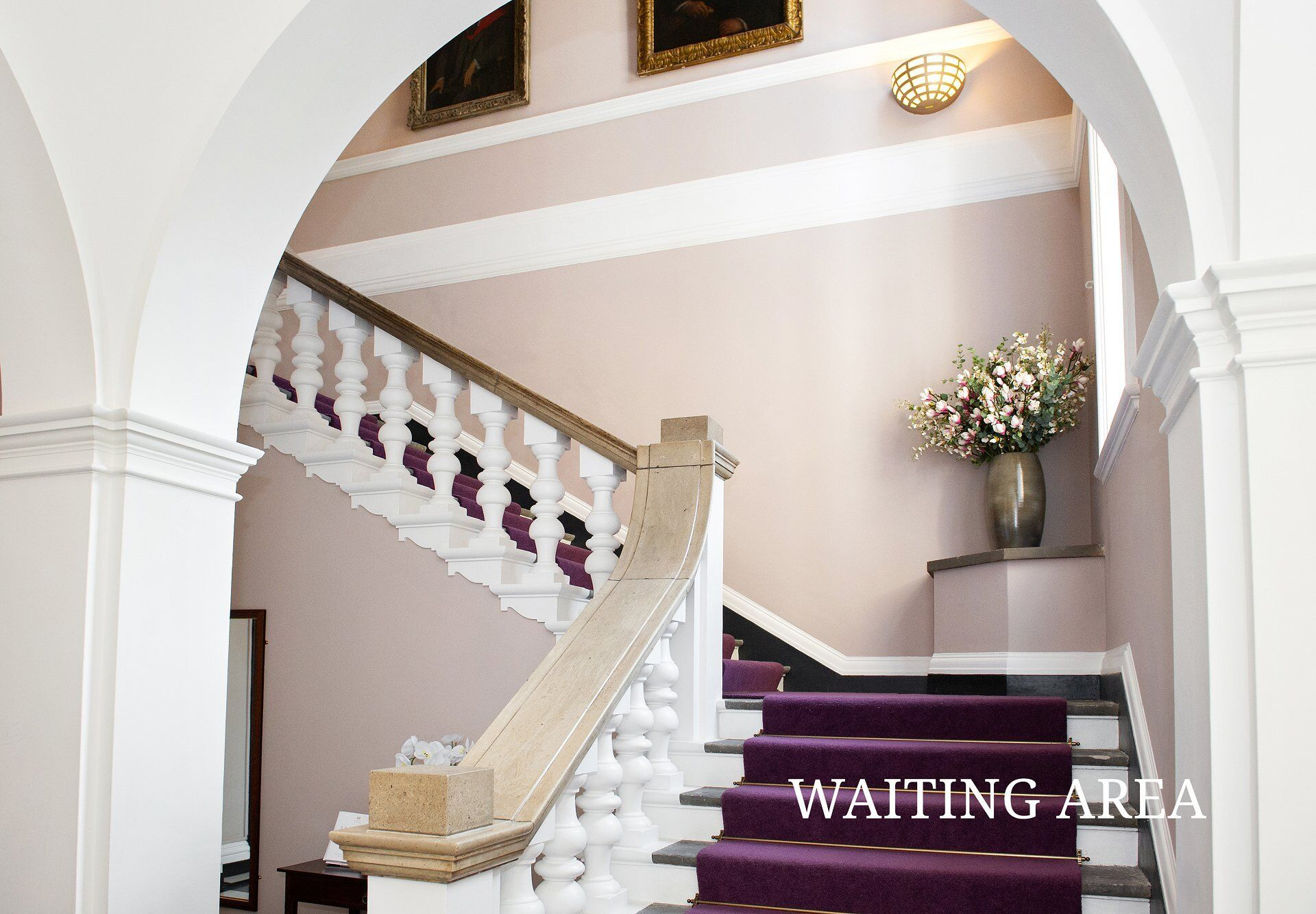 weddings and civil partnerships waiting area staircase leading to citizenship waiting area and ceremonies